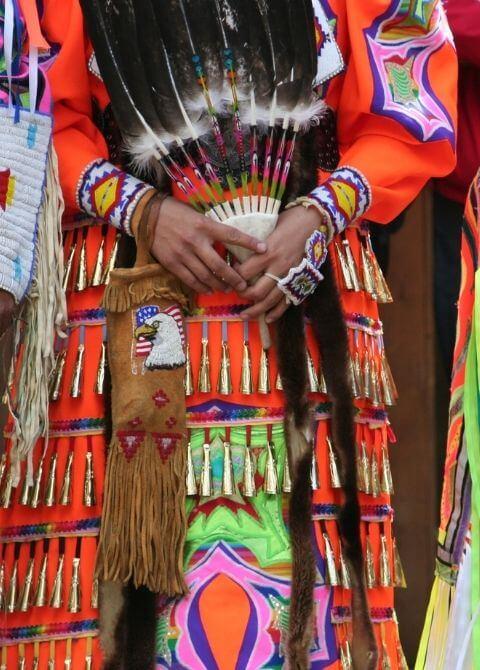 vibrantly dressed dancers