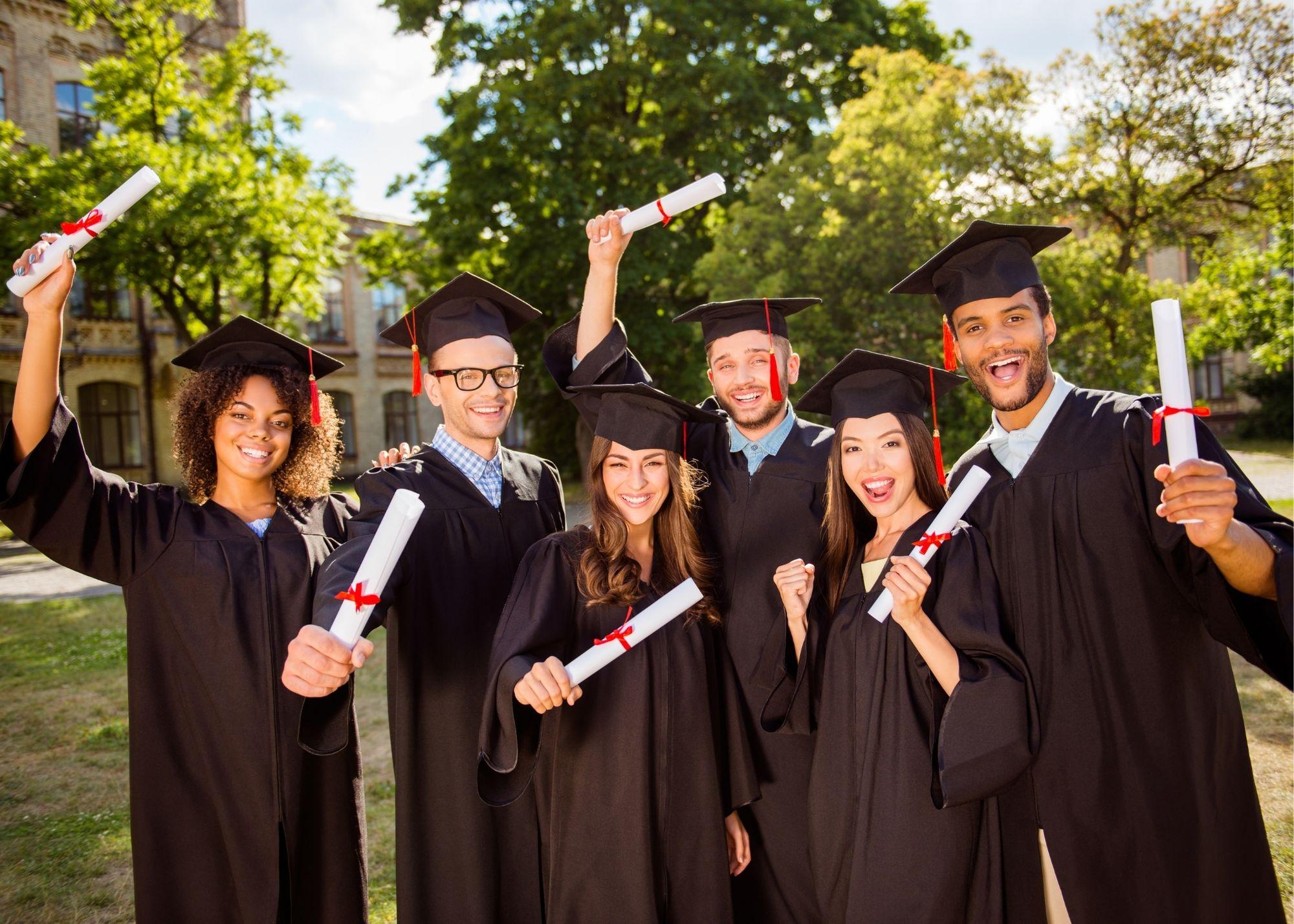 education, graduation and people