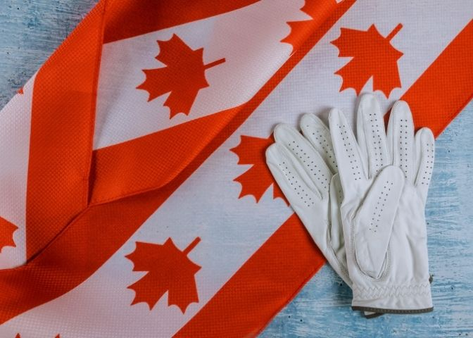 Canada Repair worker gloves Canadian flag